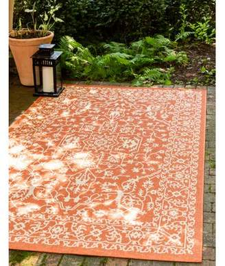 Andover Mills Zane Oriental Terracotta Indoor / Outdoor Area Rug Rug Size: Rectangle 6' x 9'