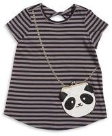Jessica Simpson Girl's Striped Pouch Tee