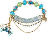 Betsey Johnson Sea Jewels Crab Half Stretch Bracelet