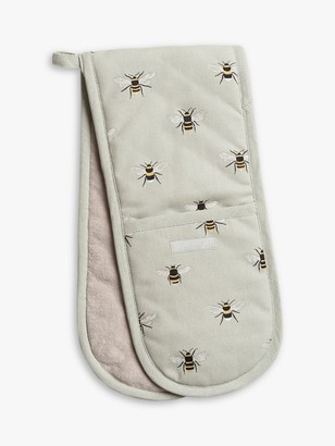 Sophie Allport Bee Double Oven Glove, Green/Multi