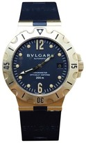 Bulgari SD38G Professional 18K Yellow Gold Silicone & Rubber Black Automatic 38mm Mens Watch