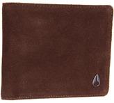 Nixon Satellite Big Bill Bi-Fold ID (Brown Suede) - Bags and Luggage