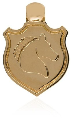 Foundrae 18kt Yellow Gold Horse Shield Charm