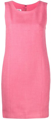 Chanel Pre Owned Textured Sleeveless Mini Dress