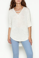 Olive + Oak Olive & Oak Ivory Stripe Top