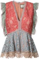 Alexis peplum lace blouse - women - Polyamide/Polyester/Spandex/Elastane/Acetate - M