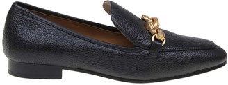 Tory Burch Jessa Loafer In Hammered Leather Black Color