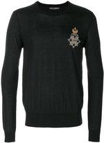 Dolce & Gabbana crest patch jumper