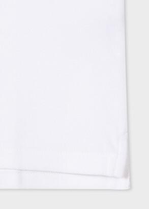Paul Smith Men's White Cotton-Pique Zebra Logo Polo Shirt