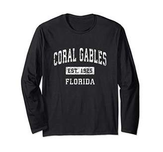 Coral Gables Florida FL Vintage Established Sports Design Long Sleeve T-Shirt