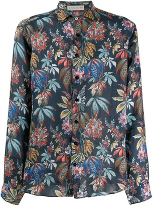 Etro Long Sleeve Floral Print Shirt