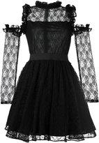 Manoush cold-shoulder lace dress - women - Cotton/Nylon/Polyester - 40