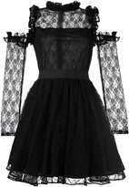 Manoush cold-shoulder lace dress - women - Cotton/Polyester/Nylon - 38