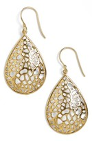 Argentovivo Women's Teardrop Dome Lace Earrings