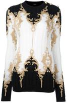 Balmain baroque buttoned shoulder jumper