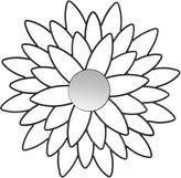 Asstd National Brand Chrysanthemum Flower Wall Mirror