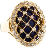 Ring 18K Lapis & Diamond