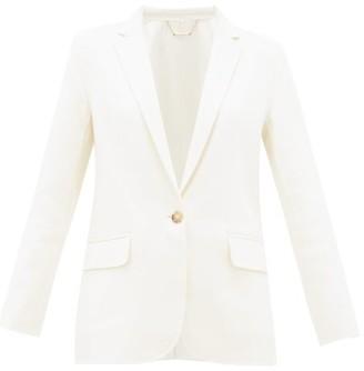 Frame Notch-lapel Wool-blend Blazer - Ivory