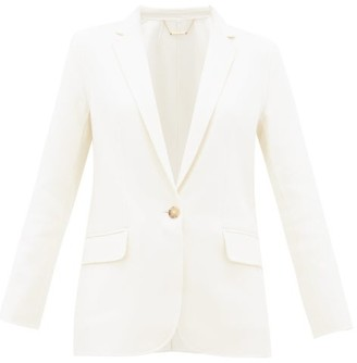 Frame Notch-lapel Wool-blend Blazer - Womens - Ivory