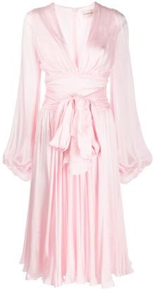 Alexandre Vauthier silk bow detail midi dress