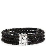 John Hardy Men's Dot Kali Wrap Leather Bracelet