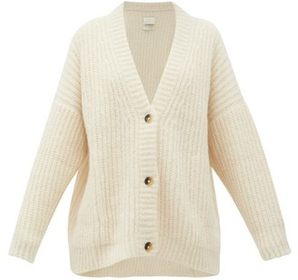LAUREN MANOOGIAN Fisherman Chunky-knit Alpaca-blend Cardigan - Womens - White