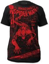 Spiderman Mens Spider Or The Man Big Print Subway T-Shirt, Size:, Color: