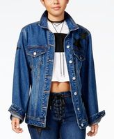 The Edit By Seventeen Juniors' Oversized Denim Jacket, Created for Macy's
