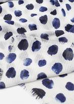 MANGO Spots print scarf