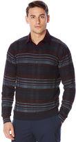 Perry Ellis Multi-Color Plaid Crew Sweater