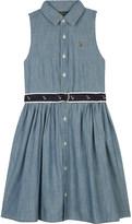 Ralph Lauren Chambray sleeveless shirt dress 2-6 years