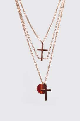 Multi Layer Cross Necklace