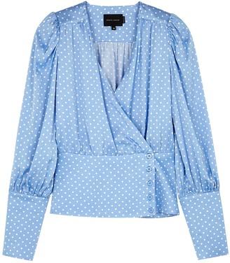 Birgitte Herskind Mie polka-dot satin wrap blouse