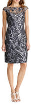 Lauren Ralph Lauren Cap Sleeve Embroidered Floral Sheath Dress