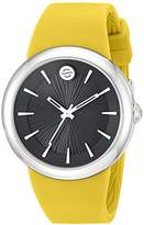 Philip Stein Teslar ' Japanese Quartz Stainless Steel and Silicone Watch, Color:Yellow (Model: F36S-LCB-Y)