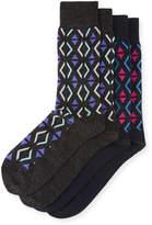 J.M. Dickens Two-Pair Diamond-Print Socks
