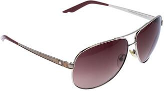 Christian Dior Silver Tone/ Brown Gradient Diorcinquate2 Aviator Sunglasses