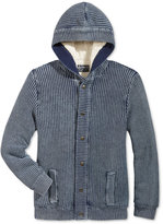 American Rag Men's Chunky-Knit Hooded Cardigan with Fleece Lining, Only at Macy's