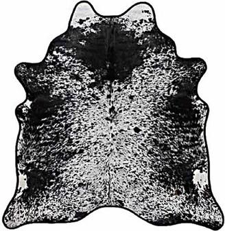 "Saddlemans Handmade Cowhide Black/White Rug Rug Size: 6' x 7'6"""