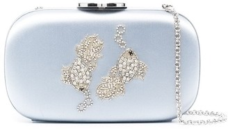 Giambattista Valli Pisces crystal and beaded embellished clutch