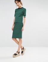Whistles Jacquard Knit Skirt in Foulard Print