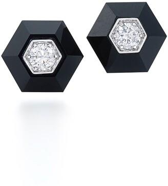 Fred Leighton Hexagonal Diamond Stud Earrings