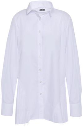 Each X Other Pleated Cotton-poplin Shirt