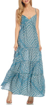Love Stitch Lovestitch Teal Tiered Maxi Dress