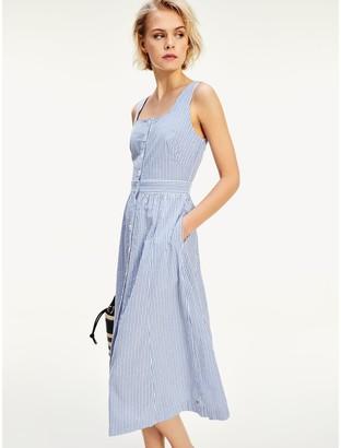 Tommy Hilfiger Sleeveless Stripe Midi Dress