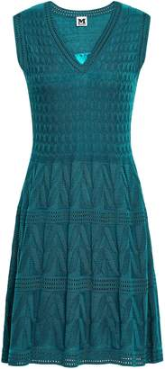 M Missoni Pointelle-trimmed Crochet-knit Wool-blend Mini Dress
