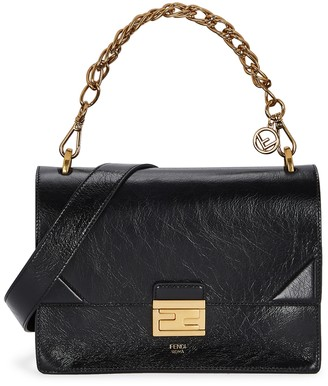 Fendi Kan U Medium Patent Leather Shoulder Bag