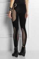 McQ by Alexander McQueen Mesh-paneled stretch leggings