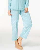 Alfani Lace-Trimmed Dotted Cropped Pajama Pants, Only at Macy's
