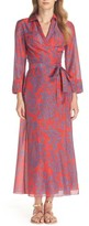 Diane von Furstenberg Women's Long Cover-Up Wrap Dress